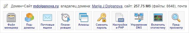 Управление сайтами на хостинге