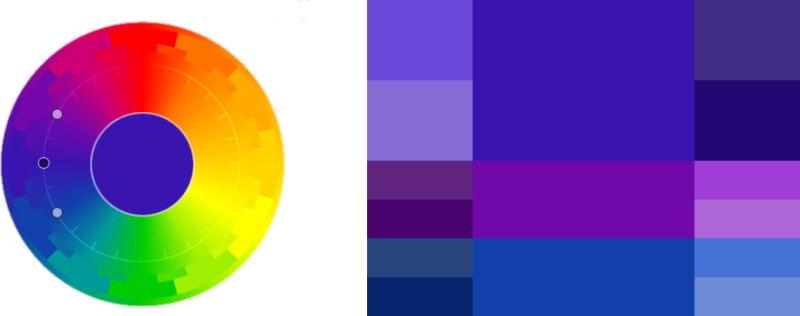 Последовательное сочетание цветов