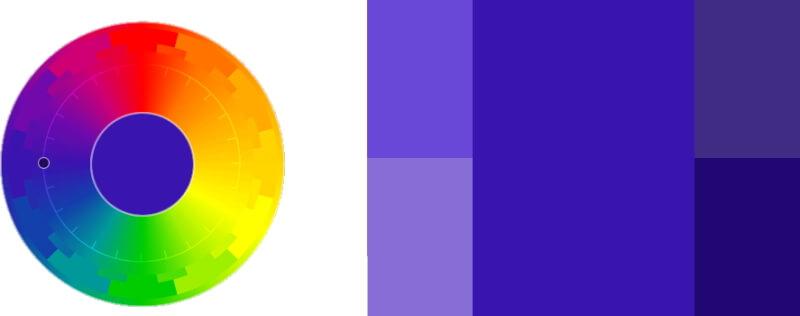 Монохромное сочетание цветов