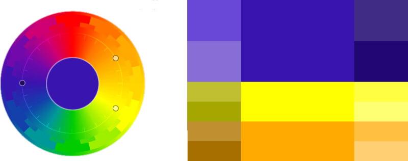 Треугольное сочетание цветов